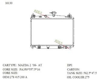 Радиатор основной Mazda 2 Новосибирск