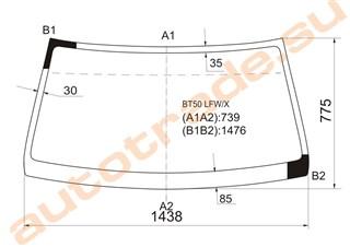 Стекло Mazda B2500 Иркутск