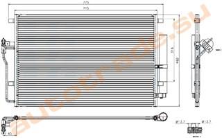 Радиатор кондиционера Volkswagen Crafter Иркутск