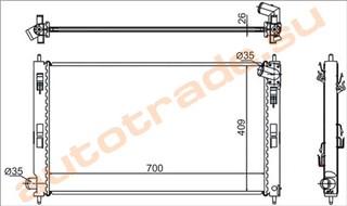 Радиатор основной Citroen C-crosser Владивосток