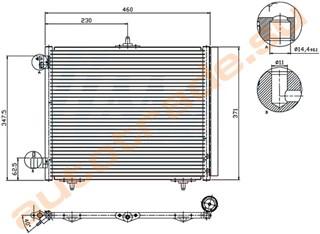 Радиатор кондиционера Peugeot 1007 Иркутск