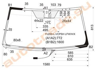 Стекло Lexus LX570 Владивосток