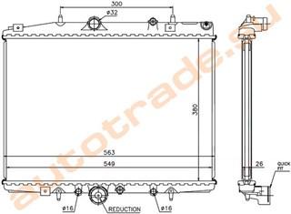 Радиатор основной Peugeot 607 Иркутск