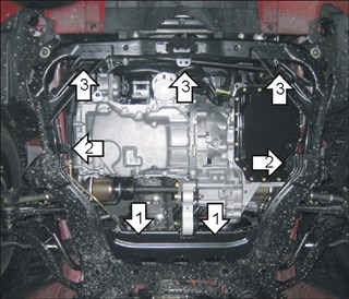 Защита двс железн. Mazda 6 Wagon Новосибирск