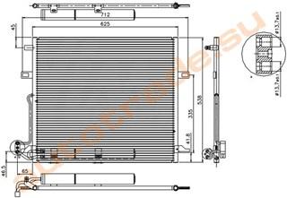 Радиатор кондиционера Mercedes-Benz R-Class Иркутск