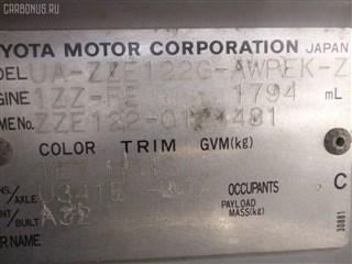 Дверь Toyota Corolla Runx Владивосток