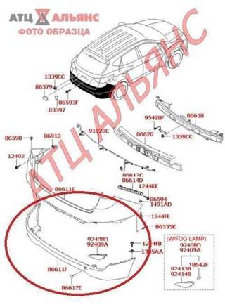 Бампер Hyundai Tucson Владивосток