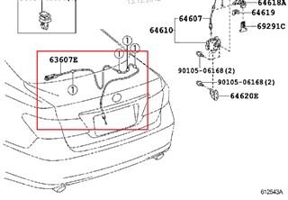Тросик багажника Lexus ES250 Хабаровск