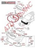 Накладка на бампер для Hyundai Ix35