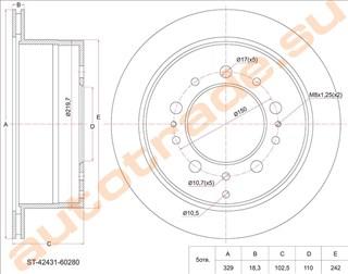 Тормозной диск Toyota Land Cruiser Улан-Удэ