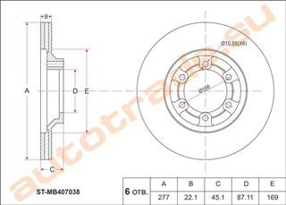 Тормозной диск Mitsubishi L300 Иркутск