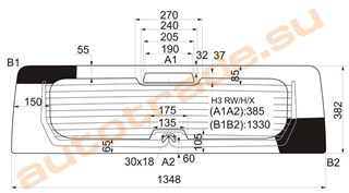 Стекло Hummer H3 Красноярск