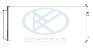 Радиатор кондиционера Honda Freed Владивосток