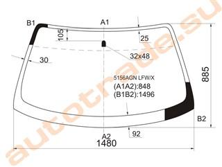 Стекло Mazda 626 Иркутск