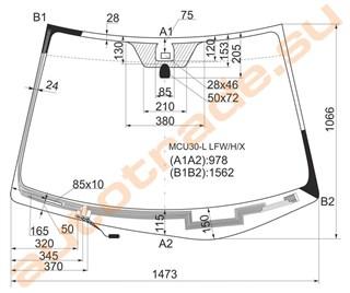 Стекло Lexus RX400H Владивосток