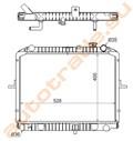 Радиатор основной для Hyundai Porter