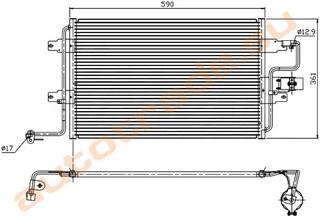 Радиатор кондиционера Volkswagen Jetta Иркутск