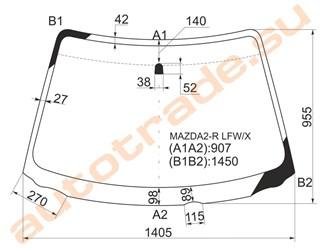 Стекло Mazda 2 Владивосток