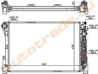 Радиатор основной Mercedes-Benz GLK-Class Иркутск
