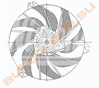 Диффузор радиатора Peugeot 206 Иркутск