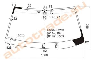 Стекло Lexus LS430 Иркутск