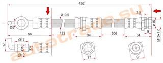 Шланг тормозной Mazda 3 Красноярск