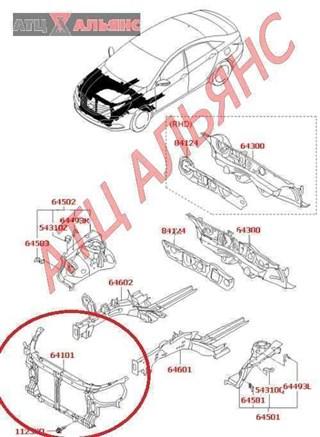 Рамка радиатора Hyundai Sonata Владивосток