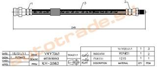 Шланг тормозной Mitsubishi Lancer X Красноярск