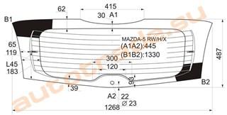 Стекло Mazda 5 Владивосток
