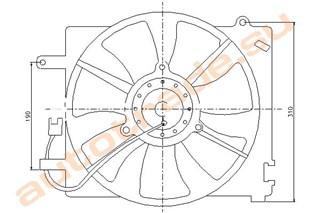Диффузор радиатора Daewoo Matiz Иркутск