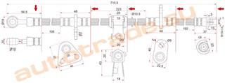 Шланг тормозной Rover 600 Улан-Удэ