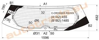 Стекло Citroen C-crosser Владивосток