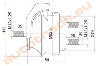 Подушка двигателя Lexus IS300 Владивосток