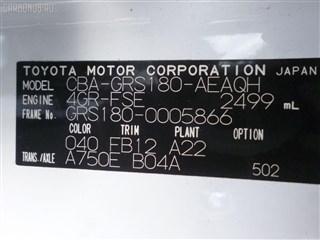 Главный тормозной цилиндр Lexus GS430 Владивосток