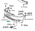 Бампер для Toyota Avensis Verso