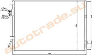 Радиатор кондиционера Hyundai Solaris Новосибирск