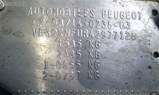 Жесткость бампера Peugeot 206 Новосибирск