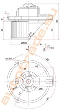 Мотор печки для Toyota Echo