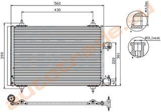 Радиатор кондиционера Citroen C5 Новосибирск