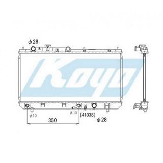 Радиатор основной Mazda 323 Омск