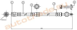 Шланг тормозной Mitsubishi Lancer Wagon Иркутск