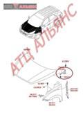 Петля капота для Hyundai Ix35