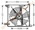 Диффузор радиатора для Daewoo Nexia
