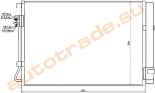Радиатор кондиционера Hyundai Solaris Иркутск