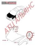 Петля капота для Hyundai Avante