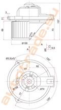 Мотор печки для Toyota Carina E