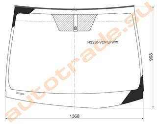 Стекло Lexus HS250H Новосибирск