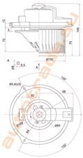 Мотор печки для Lexus ES300