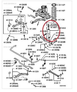 Амортизатор Mitsubishi Pajero Evolution Владивосток