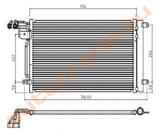Радиатор кондиционера Chery A1 Иркутск